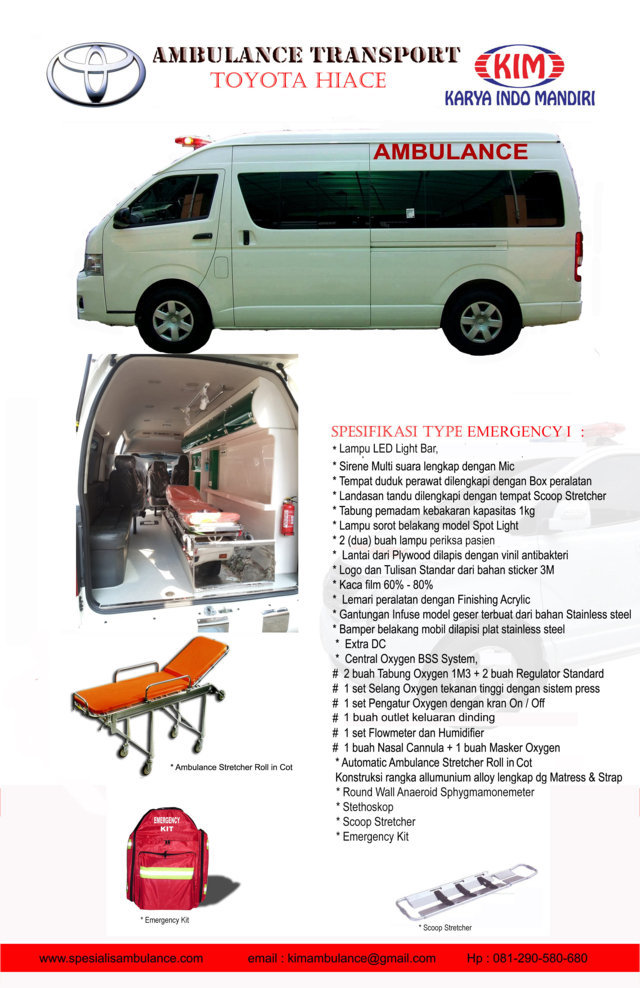 TOYOTA HIACE emergency 1 res