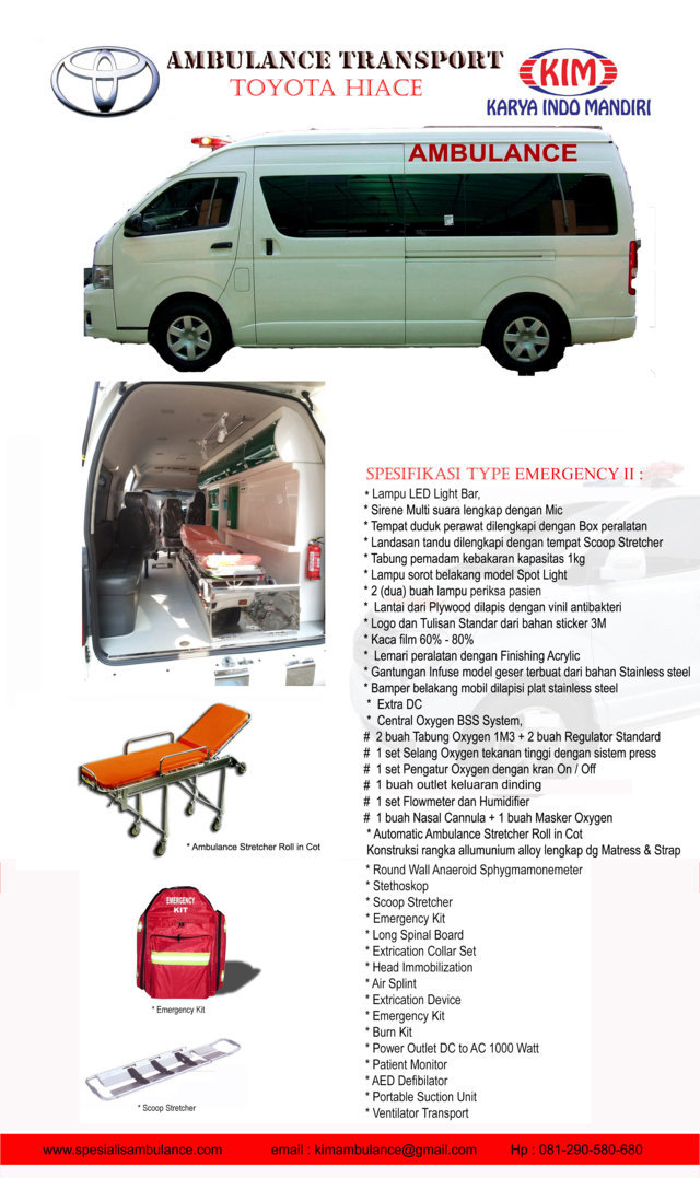 TOYOTA HIACE emergency 2 a res
